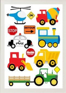 Beskpoke Print - Transport / Vehicles - A4 Size - Unframed