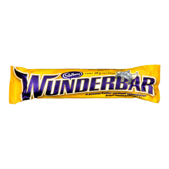 Wunderbar 58g 24's - Chocolate and Chocolate Bars - Mondelez (Cadbury) - Tevan Enterprises Confectionary
