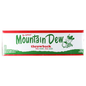 Mountain Dew Throwback 12/355ml - Beverages - PepsiCo - Tevan Enterprises Confectionary