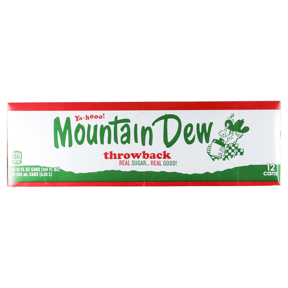 Mountain Dew Throwback 12/355ml, Beverages, PepsiCo, [variant_title] - Tevan Enterprises