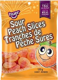 Huer Peg Bag Sour Peach Slices 24/120g