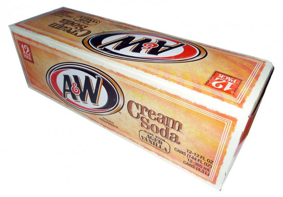 A&W Cream Soda 12/355ml - Beverages - Dr Pepper - Tevan Enterprises Confectionary