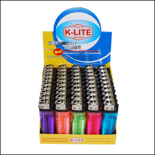 K-Lite Lighters 50 per box - Supplies - Tevan Enterprises, Ltd. - Tevan Enterprises Confectionary