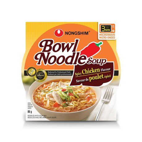 Nong Shim Spicy Chicken Soup Bowl 85g 12s - Snacks - Tevan Enterprises, Inc. - Tevan Enterprises Confectionary
