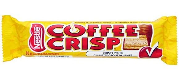 Coffee Crisp Regular 50g 48/box, Chocolate and Chocolate Bars, Nestle, [variant_title] - Tevan Enterprises