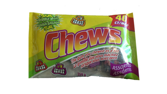 Exclusive Brands Assorted Sour Chews Gum 50g 24/6 - Gum - Exclusive Candy - Tevan Enterprises Confectionary