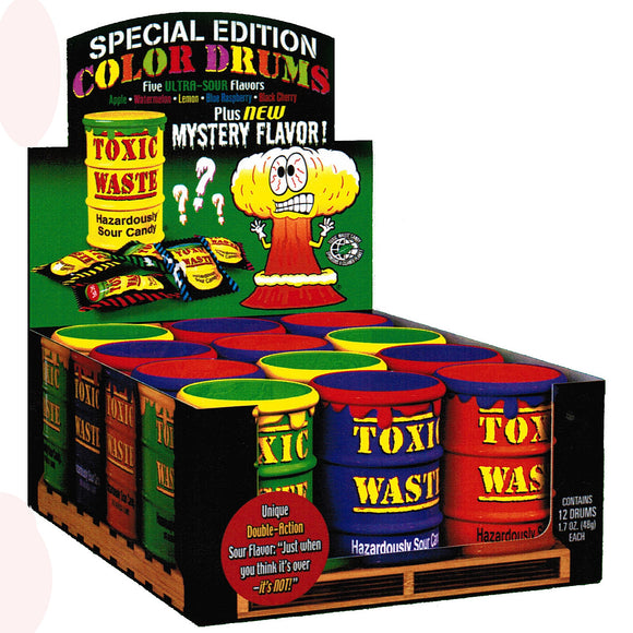 Exclusive Brands Toxic Waste Drum Special Edition 48g 12/12, Candy, Exclusive Candy, [variant_title] - Tevan Enterprises