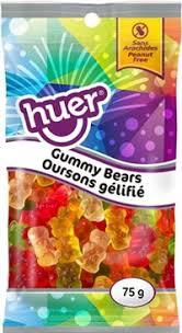 Huer Pocket Pals Gummy Bears 12/75g, Candy, Huer, [variant_title] - Tevan Enterprises
