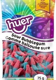 Huer Pocket Pals Sour Bubblegum 12/75g