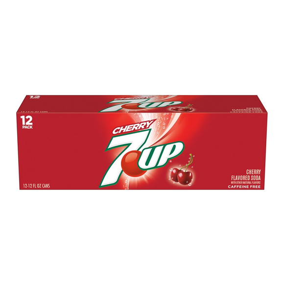 7-up Cherry 12/355ml - Beverages - Dr Pepper - Tevan Enterprises Confectionary