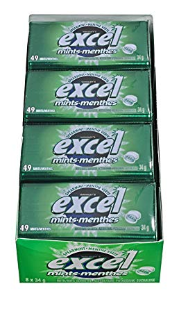 Excel Mints Spearmint 34g x 8 - Mints - Wrigley - Tevan Enterprises Confectionary