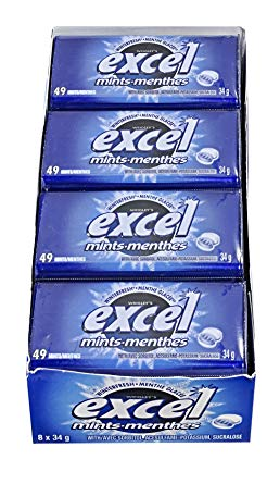 Excel Mints Winterfresh 34g 8s - Mints - Wrigley - Tevan Enterprises Confectionary