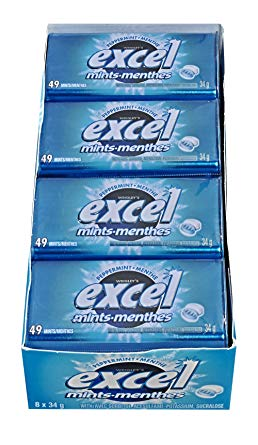 Excel Mints Peppermint 34g x 8 - Mints - Wrigley - Tevan Enterprises Confectionary