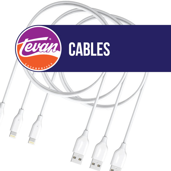 1 meter iPhone 4 USB Cable 25/bag, Cables, Tevan Enterprises, Ltd., [variant_title] - Tevan Enterprises