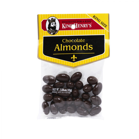 King Henry Chocolate Almonds 106g 12's, Snacks, King Henry, [variant_title] - Tevan Enterprises