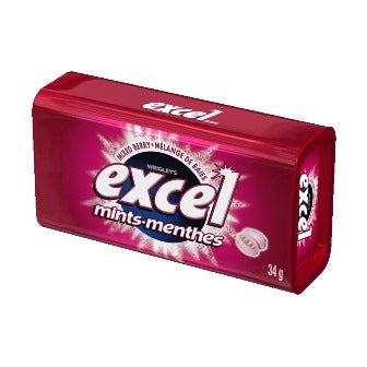 Excel Mints Mixed Berry 34g 8s - Mints - Wrigley - Tevan Enterprises Confectionary