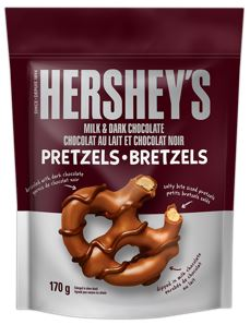Hershey Milk & Dark Chocolate Pretzels 170g 12 per box