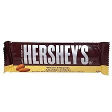 Hershey Almonds 43g  36's, Chocolate and Chocolate Bars, Hershey's, [variant_title] - Tevan Enterprises