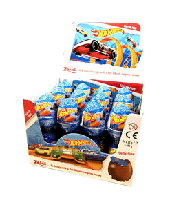 Zaini Hot Wheels Chocolate Eggs 20g, 24's