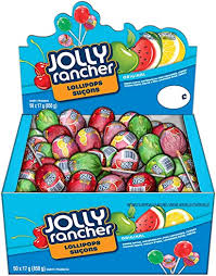 Jolly Rancher Assorted Lollipops 50/17gg