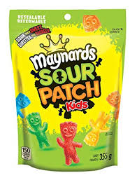 Maynards Sour Patch Kids 355g, 12 bags per box, Candy, Mondelez (Cadbury), [variant_title] - Tevan Enterprises