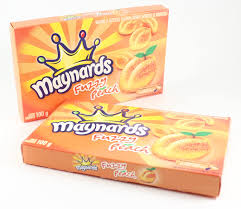 Maynards fuzzy peach 100g 12 boxes/case, Candy, Mondelez (Cadbury), [variant_title] - Tevan Enterprises