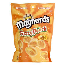 Maynards Large Bags Fuzzy Peach 355g, 12 per box, Candy, Mondelez (Cadbury), [variant_title] - Tevan Enterprises