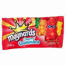 Maynards Original Gummies 60g 18's - Candy - Mondelez (Cadbury) - Tevan Enterprises Confectionary