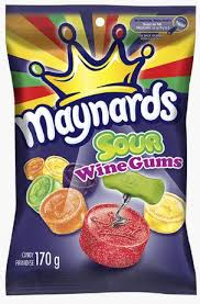 Maynards Sour Wine Gums 170g 12's, Candy, Mondelez (Cadbury), [variant_title] - Tevan Enterprises