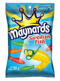 Maynards Swedish fish 185g 12 boxes/case - Candy - Mondelez (Cadbury) - Tevan Enterprises Confectionary