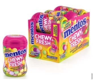 Mentos Chewy and Fresh Bottles - Fruit 99g 6/box,