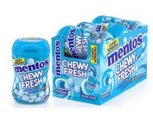 Mentos Chewy and Fresh Bottles - Peppermint 99g 6/box,