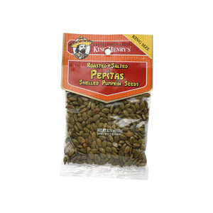 King Henry Pepitas (roasted/salted pumpkin seeds)