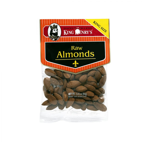 King Henry Raw Almonds, Snacks, King Henry, [variant_title] - Tevan Enterprises