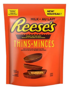 Reese Thins (Milk) Peg Top 165g 12 bags per box, Chocolate and Chocolate Bars, Hershey's, [variant_title] - Tevan Enterprises