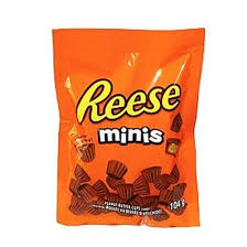 Reese Mini Peanut Butter Cups Peg Top 104g  x 6 - Chocolate and Chocolate Bars - Hershey's - Tevan Enterprises Confectionary