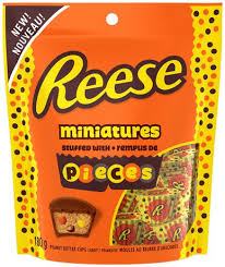 Reese Mini Peanut Butter Cups with Pieces 180g 12's, Chocolate and Chocolate Bars, Hershey's, [variant_title] - Tevan Enterprises