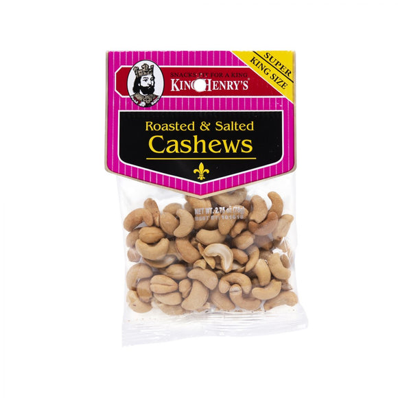 King Henry Roasted Salted Cashews, Snacks, King Henry, [variant_title] - Tevan Enterprises