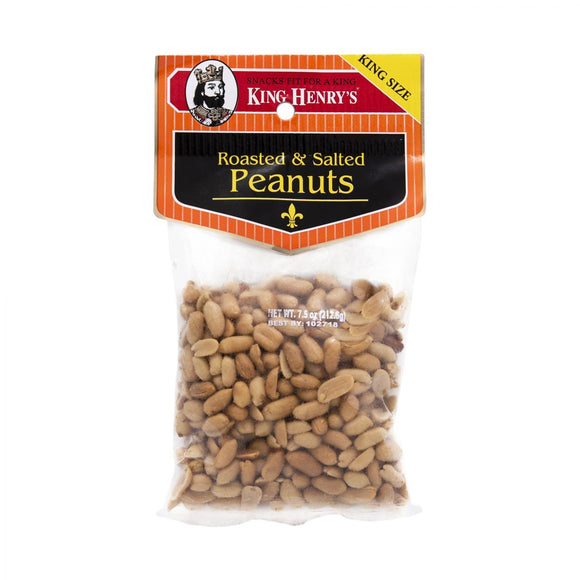 King Henry Roasted Salted Peanuts 234g 12's, Snacks, King Henry, [variant_title] - Tevan Enterprises