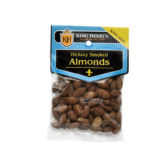 King Henry Almonds Hickory Smoked 71g 12's, Snacks, King Henry, [variant_title] - Tevan Enterprises