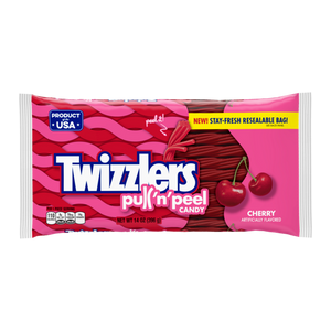 Twizzler Pull-n-Peel Cherry Party Pack 396g 12s, Licorice, Hershey's, [variant_title] - Tevan Enterprises