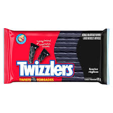 Black Licorice Twizzler Party Pack 375g 12s - Licorice - Hershey's - Tevan Enterprises Confectionary