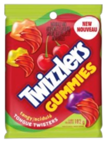 Twizzler Tongue Twister - Tangy 182g 12/box, Candy, Hershey's, [variant_title] - Tevan Enterprises