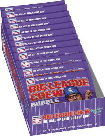 Big League Chew Grape 60g x 12