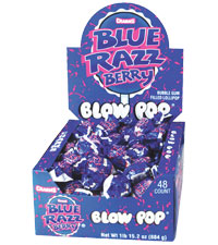 Charms Blue Razz Blow Pops 18g 48's