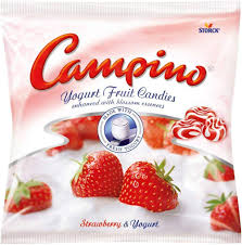 Campino Yogurt & Fruit - Strawberry 120g 12 per box, Candy, Storck Canada Inc., [variant_title] - Tevan Enterprises