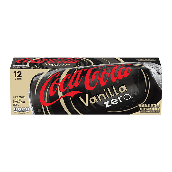 Vanilla Coca Cola Zero 12/355ml, Beverages, Coca Cola, [variant_title] - Tevan Enterprises