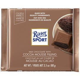Ritter Sport Cocoa Mousse Choc 100g, 12's