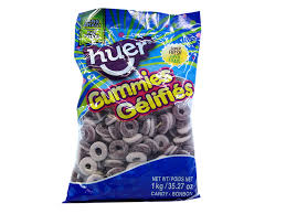 Huer grape rings bulk candy 1kg, Bulk Candy, Huer, [variant_title] - Tevan Enterprises