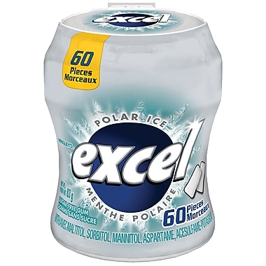 Excel Polar Ice Bottles 60pc 6/bx, Gum, Wrigley, [variant_title] - Tevan Enterprises